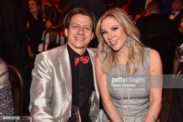 Ulises Liceaga and Ramona Singer attend Julie Macklowe's 40th birthday Spectacular at La Goulue on December 19 2017 in New York City