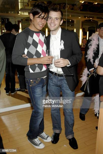 """Ulises Rodriguez and Ken Pizzo attend Sofia's """"Hair for Health"""" Annual Party at the Rodolfo Valentin Salon and Spa on October 11 2009 in New York City"""