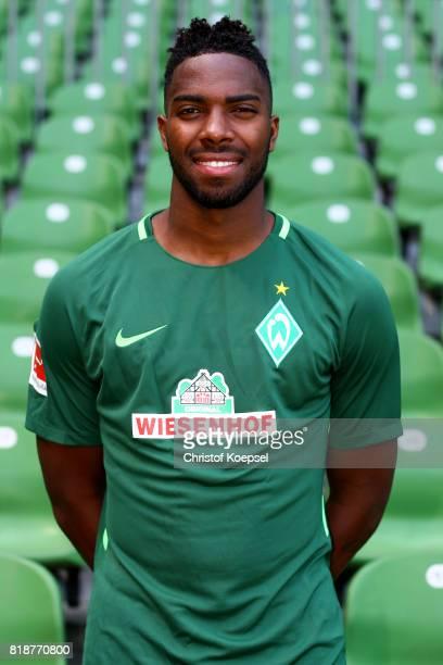 Ulisses Garcia of Werder Bremen poses during the team presentation at Weser Stadium on July 19 2017 in Bremen Germany
