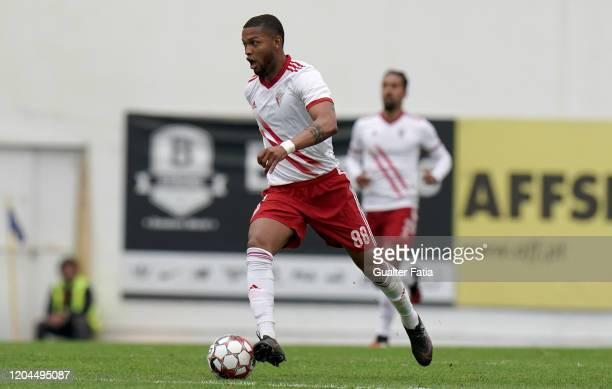 Ulisses Oliveira of UD Vilafranquense in action during the Liga Pro match between GD Estoril Praia and UD Vilafranquense at Estadio Antonio Coimbra...