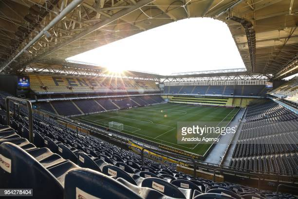 Ulker Stadium is seen empty after the Ziraat Turkish Cup soccer match between Fenerbahce and Besiktas was decided to be played without spectators due...
