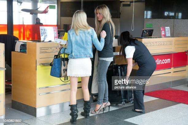 Ulla Klopp wife of Borussia Dortmund's head coachJuergen Klopp arrives for checkin at the airport inDortmund Germany 24 May 2013 Borussia Dortmund...