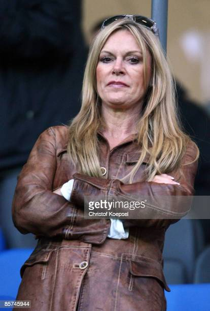 Ulla Klopp wife of head coach Juergen Klopp of Borussia Dortmund is seen during the U21 International friendly match between Germany and Belarus at...