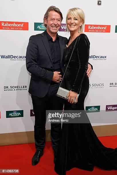 Ulla Kock am Brink and her boyfriend Peter Fissenewert attend the 'Goldene Bild der Frau' award at Stage Theater on October 13 2016 in Hamburg Germany