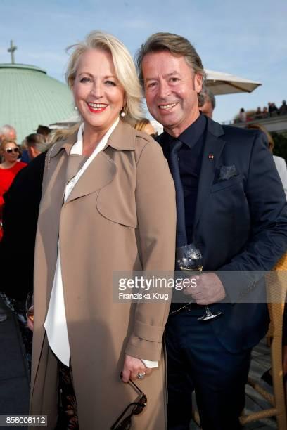 Ulla Kock am Brink and her boyfriend Peter Fissenewert attend the 'Staatsoper fuer alle' at Hotel De Rome on September 30 2017 in Berlin Germany