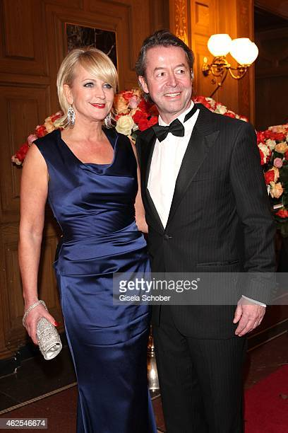 Ulla Kock am Brink and Peter Fissenewert during the Semper Opera Ball 2015 at Semperoper on January 30 2015 in Dresden Germany