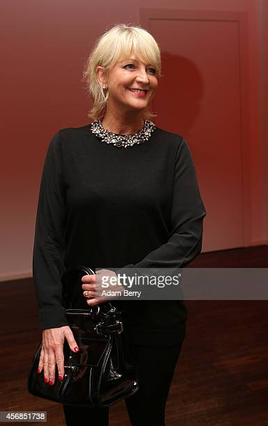 Ulla Kock am Brink arrives for a literary-musical evening hosted by Berenberg Bank at Humboldt Carre on October 8, 2014 in Berlin, Germany.