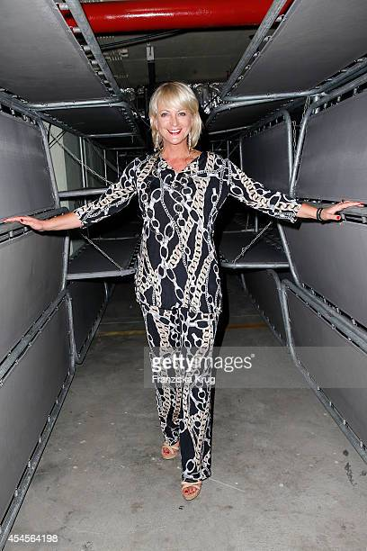 Ulla Kock am Brink attends the Blurry Garden Couture Collection Presentation in a nuclear bunker on September 03 2014 in Berlin Germany