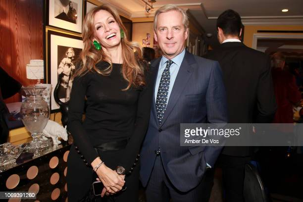 Ulla Parker and Alex Roepers attend a Holiday Fete hosted by Cornelia Guest And John Demsey at a Private Residence on November 6 2018 in New York City