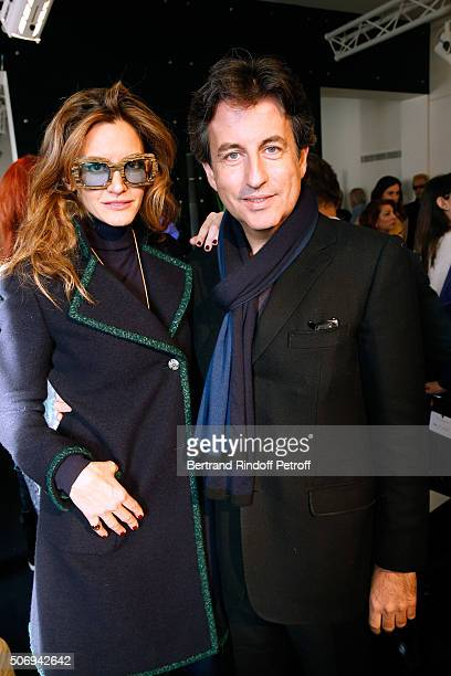Ulla Parker and Cyril Karaogla attend the Stephane Rolland Spring Summer 2016 show as part of Paris Fashion Week on January 26 2016 in Paris France
