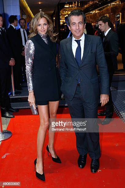 Ulla Parker and Cyril karaoglan attend the 'Le nouveau Stagiare' movie Premiere to Benefit 'Claude Pompidou Foundation' held at Cinema 'UGC...