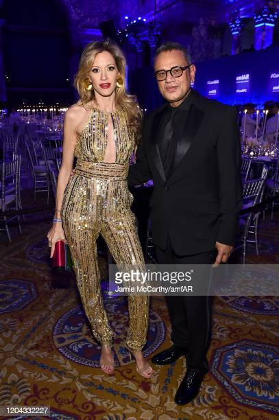 Ulla Parker and Naeem Khan attends the 2020 amfAR New York Gala at Cipriani Wall Street on February 05 2020 in New York City