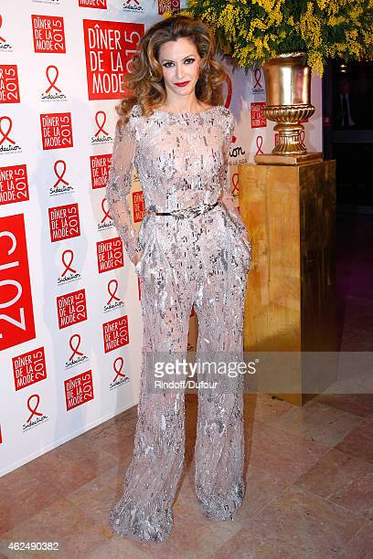 Ulla Parker attends the Sidaction Gala Dinner 2015 at Pavillon d'Armenonville on January 29 2015 in Paris France