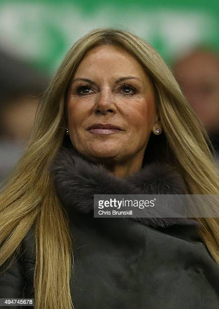 Ulla Sandrock wife of Liverpool manager Jurgen Klopp looks on during the Capital One Cup Fourth Round match between Liverpool and AFC Bournemouth at...