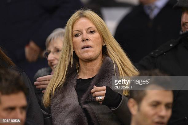 Ulla Sandrock wife of Liverpool's German manager Jurgen Klopp attends the English Premier League football match between Liverpool and West Bromwich...