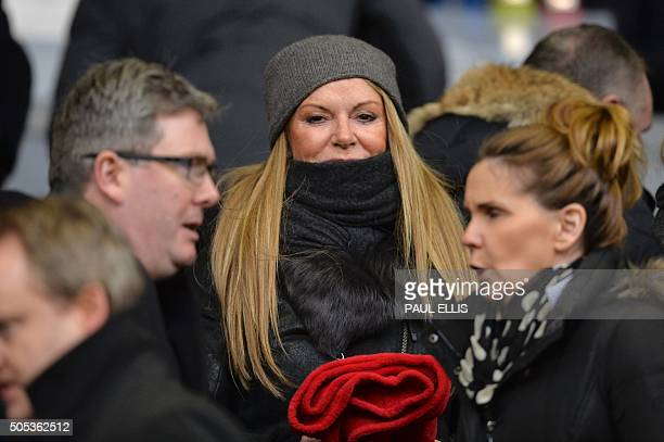 Ulla Sandrock wife of Liverpool's German manager Jurgen Klopp attends the English Premier League football match between Liverpool and Manchester...