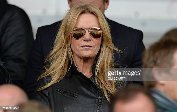 Ulla Sandrock wife of Liverpool's manager Jurgen Klopp is pictured ahead of the English Premier League football match between Liverpool and Stoke...