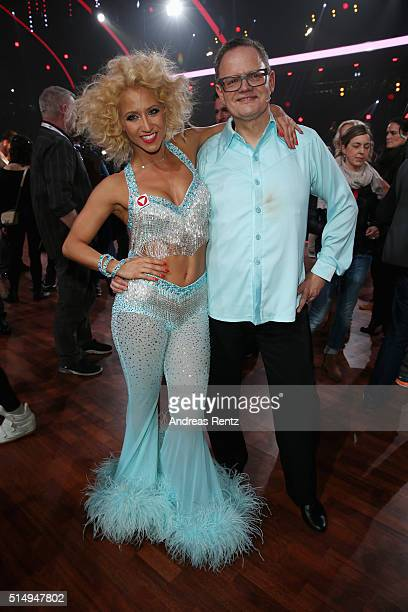 Ulli Potofski and Kathrin Menzinger attend the 1st show of the television competition 'Let's Dance' on March 11 2016 in Cologne Germany
