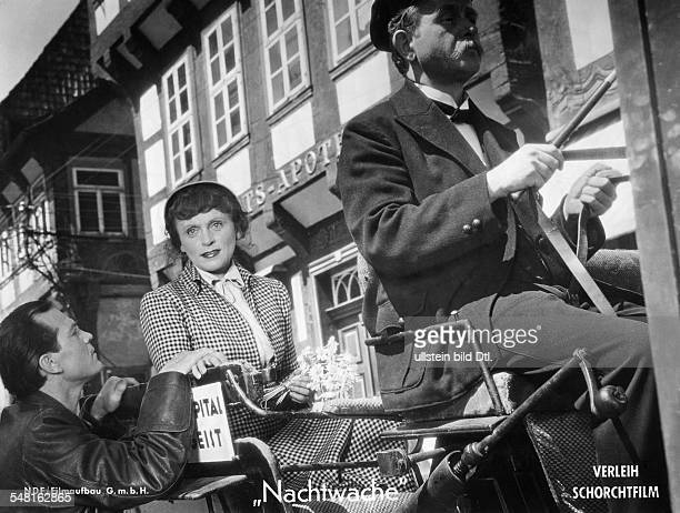 Ullrich Luise Actress Austria * Scene from the movie 'Nachtwache' engl title 'Keepers of the Night' with Rene Deltgen Directed by Harald Braun West...