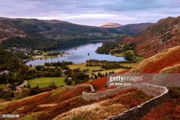 ullswater lake, lake district, cumbria, england - english lake district stock photos and pictures
