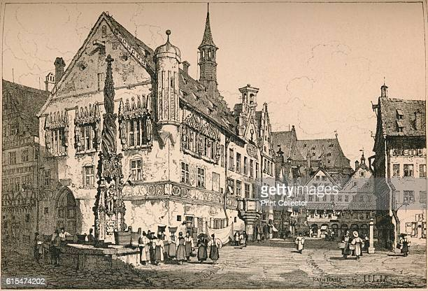 Ulm' c1820 Ulm is a city in the federal German state of BadenWurttemberg situated on the River Danube From Sketches by Samuel Prout edited by Charles...