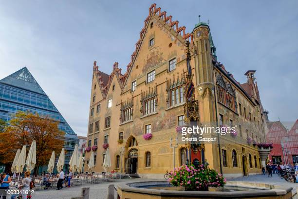 ulm, marktplatz & town hall (baden-württemberg, germany) - ulm stock pictures, royalty-free photos & images