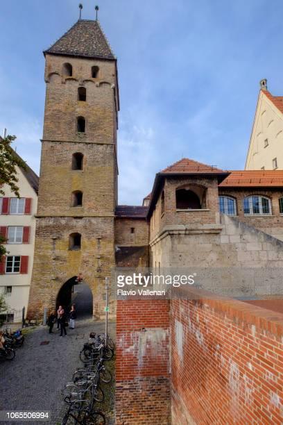 ulm ( baden-württemberg, germania) - porta cittadina foto e immagini stock