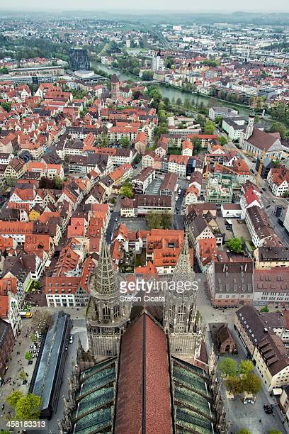 ulm minster | german: ulmer münster - minster stock photos and pictures