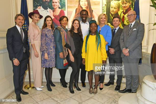 Ulric Jerome, Arizona Muse, Livia Firth, Baroness Patricia Scotland, Secretary-General of the Commonwealth, Ashia Sheikh Dearwester, Wilson Oryema,...
