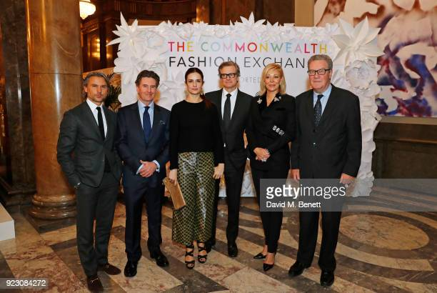 Ulric Jerome, CEO of Matchesfashion.com, Nigel Gosse, Director of Woolmark Company, Livia Firth, Founder and Creative Director of Eco-Age, Colin...