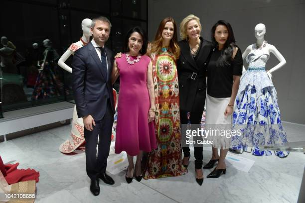 Ulric Jerome Dr Joyce F Brown Livia Firth Nadja Swarovski and Michelle Lee attend The EcoAge Commonwealth Fashion Exchange US Debut presented by...