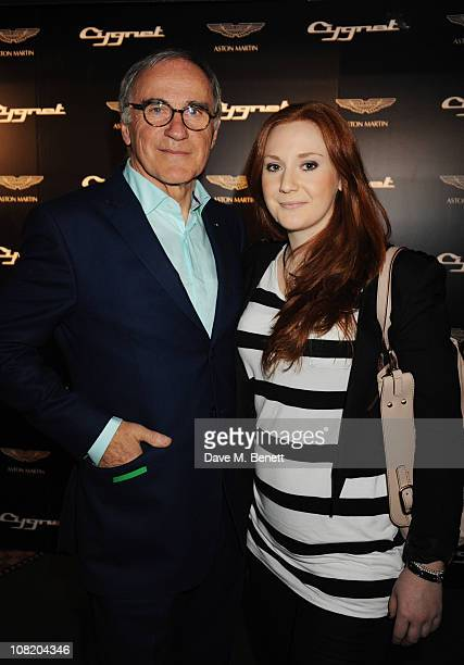 Ulrich Bez with daughter Anne attend the launch party for Aston Martin's new car The Cygnet Launch Editions at Meza on January 20 2011 in London...