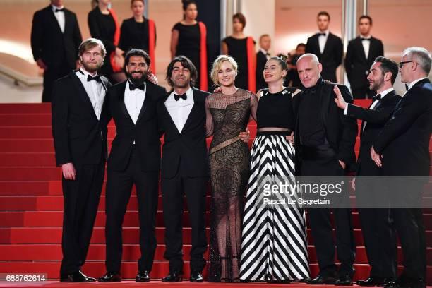 Ulrich Brandhoff Numan Acar director Fatih Akin Diane Kruger Samia Muriel Chancrin Johannes Krisch Denis Moschitto and Director of the Cannes Film...