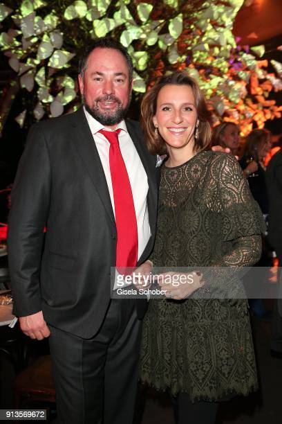 Ulrich Dahlmann and his wife Evelyn Dahlmann during Michael Kaefer's 60th birthday celebration at Postpalast on February 2 2018 in Munich Germany