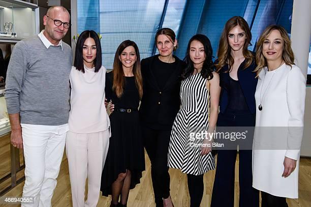 Ulrich Grimm Nicole Warne Ilaria TartarelliAnna Hammam Zhang YiChiara Ferragni and Laura Burdese attend the Calvin Klein Watches Jewelery booth at...