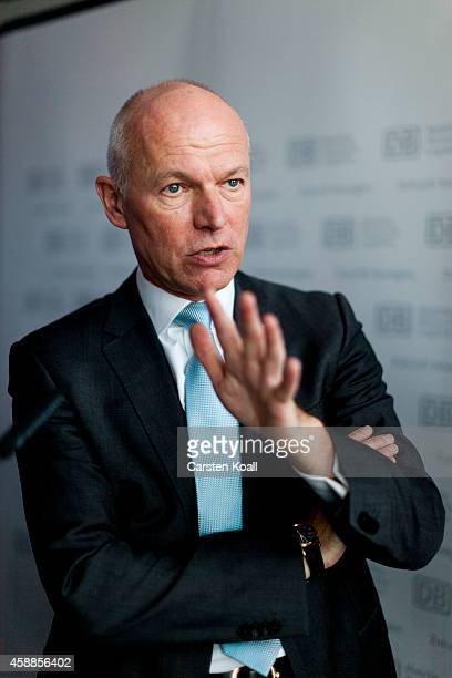 Ulrich Homburg, head of Passenger DB Mobility Logistics AG, gestures during an interview on January 12, 2011 in Berlin, Germany.