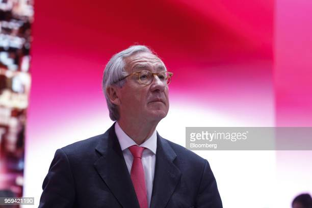 Ulrich Lehner chairman of Deutsche Telekom AG looks on during the company's shareholders' meeting in Bonn Germany on Thursday May 17 2018 Deutsche...