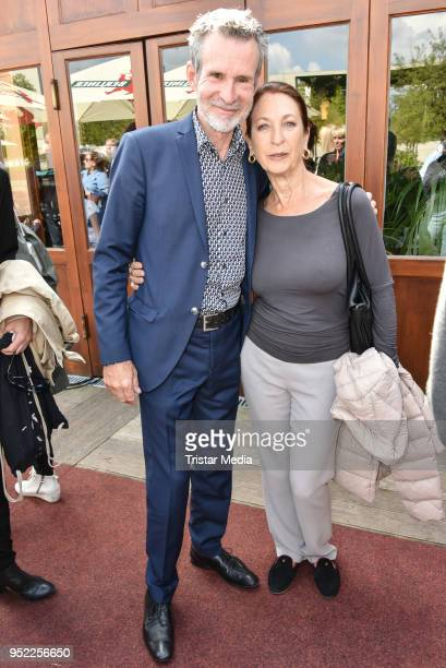 Ulrich Matthes and Daniela Ziegler during the 45th anniversary celebration of Ziegler Film at Tipi am Kanzleramt on April 27 2018 in Berlin Germany