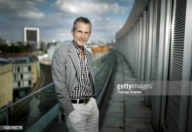 Ulrich Matthes german Actor is pictured on the roofdeck of Bundespressekonferenz on July 09 2018 in Berlin Germany