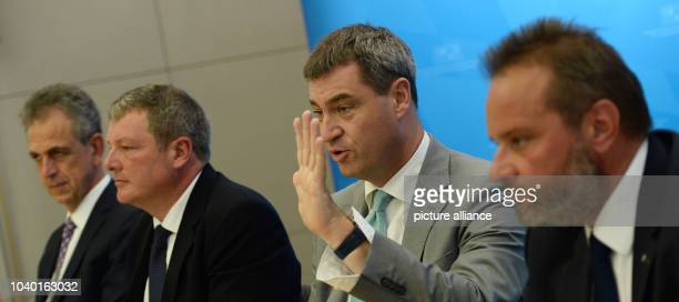 Ulrich Netzer president of the Bavarian association of saving banks Ernst Weidenbusch member of the committee for financial affairs of the Bavarian...