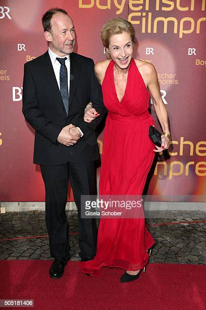 Ulrich Noethen and Franziska Schlattner during the Bavarian Film Award 2016 at Prinzregententheater on January 15 2016 in Munich Germany