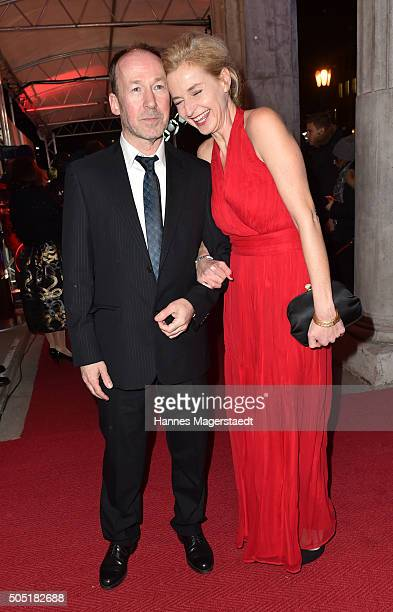 Ulrich Noethen and Franziska Schlattner during the Bavarian Film Award 2016 show at Prinzregententheater on January 15 2016 in Munich Germany
