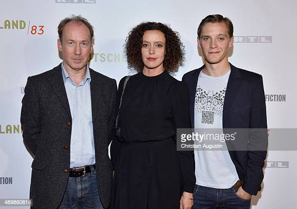 Ulrich Noethen Maria Schrader and Jonas Nay attend RTL Program Presentation and premiere of TV Production 'Deutschland 83' at Curiohaus on September...