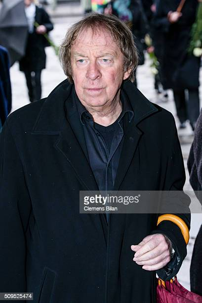 Ulrich Pleitgen attends the Wolfgang Rademann memorial service on February 11 2016 in Berlin Germany