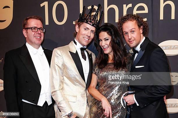Ulrich Schuhmacher Jens Hilbert Mariella Ahrens and Sebastian Esser attend the Hairfree Celebrates 10 Year Anniversary with Bal Masque on November 15...