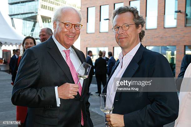 Ulrich Troeger and Dirk van Haeften attend the BurdaNews Night on June 03, 2015 in Hamburg, Germany.