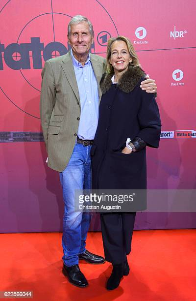 Ulrich Wickert and Julia Jaekel attend celebration event of 1000 Episodes of the crime movie Tatort at Cinemaxx Dammtor on November 11 2016 in...