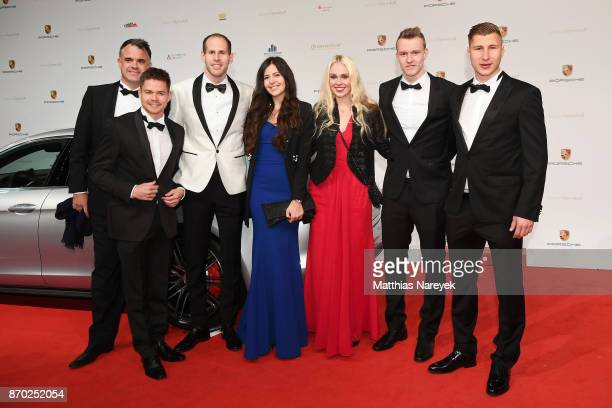 Ulrich Wolter Dominik Kaiser Peter Gulacsi his wife Diana Laura Lukas Klostermann and Willi Orban attend the Leipzig Opera Ball on November 4 2017 in...