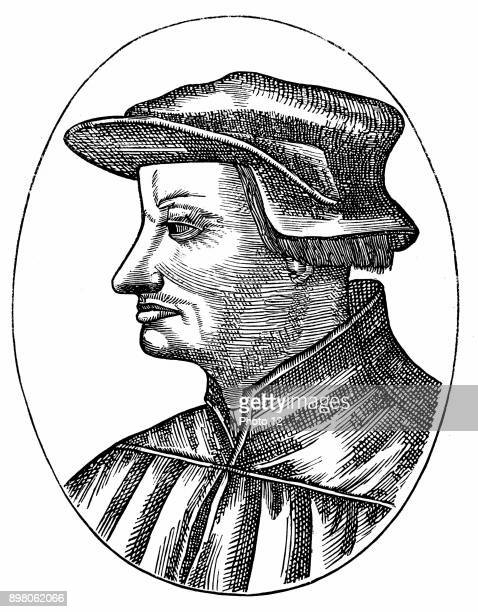 Ulrich Zwingli Swiss Reformation divine Chaplain to Swiss forces during Second War of Kappel when he was killed in battle From 'Vrais Pourtraits des...