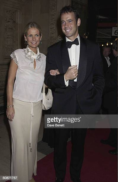 Ulrika Johnson and Lance Gerrard Wright attend the 2002 National TV Awards at The Royal Albert Hall on October 15 2002 in London